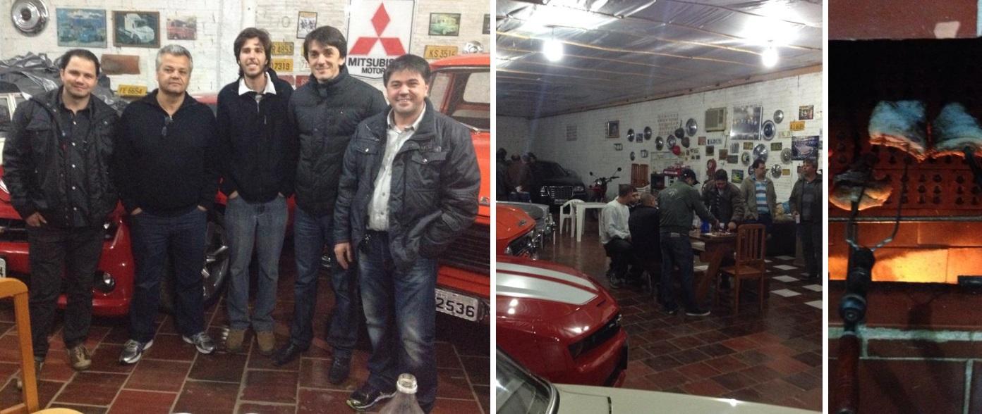 Amarildo e Eduardo Casagrande, sócios do Veteran Car Sul Catarinense realizaram CONFRATERNIZAÇÃO de antigomobilistas dia 05 de agosto de 2014 em Esplanada Içara/SC