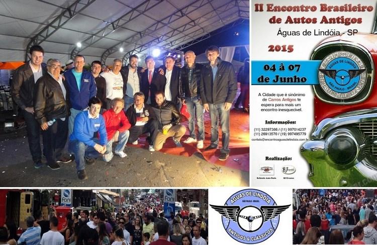 Veteran Car Sul Catarinense prestigiou e participou do 2° ENCONTRO BRASILEIRO DE AUTOS ANTIGOS 2015 em Águas de Lindóia/SP