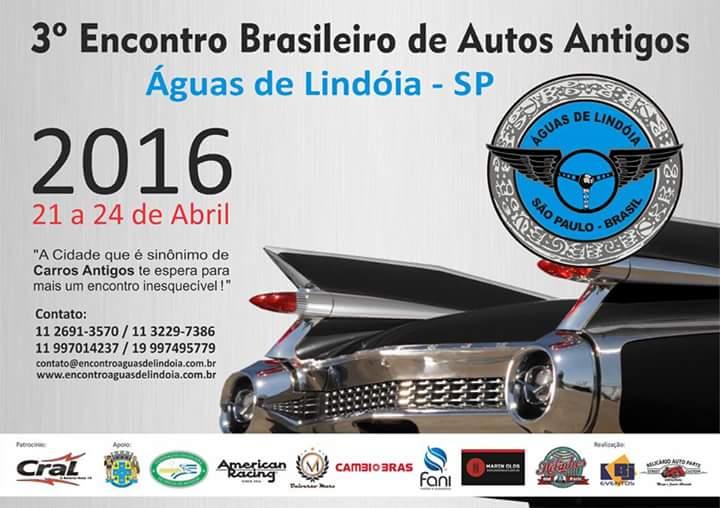 3º Encontro Brasileiro de Autos Antigos de 21 a 24 de abril de 2016 em ÁGUAS DE LINDÓIA/SP