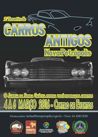 2º Encontro de Carros Antigos de 04 a 06 de março de 2016 em NOVA PETRÓPOLIS/RS