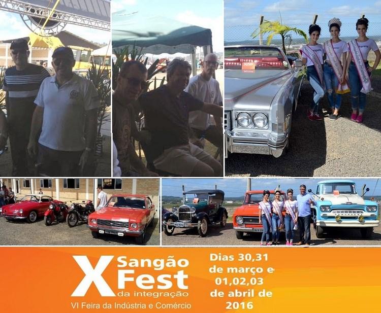 O Veteran Car Sul Catarinense participou da Exposição de Carros Antigos na X SANGÃO FEST Feira da Industria e Comércio realizado domingo dia 03 de abril de 2016 na cidade de Sangão/SC