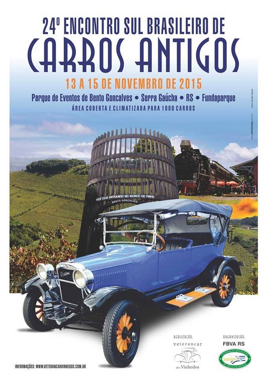 24º Encontro Sul Brasileiro de Veículos Antigos de 13 a 15 de novembro de 2015 em BENTO GONÇALVES/RS