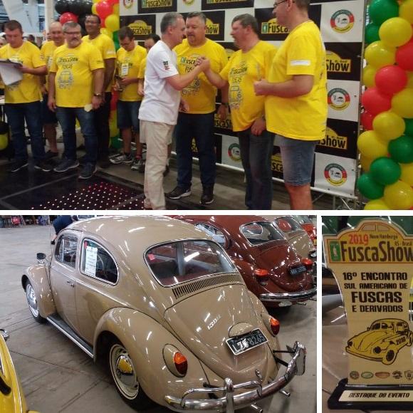Veteran Car Sul Catarinense é premiado no FUSCA SHOW 2019 realizado dias 04 e 05 de maio em Novo Hamburgo/RS