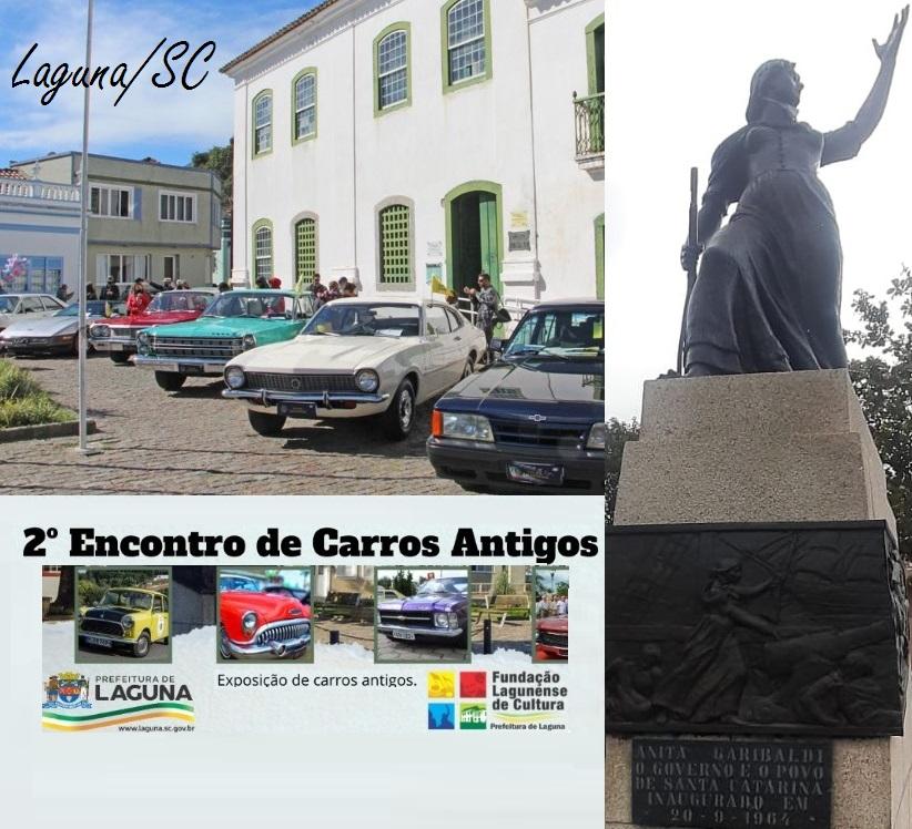 VCC Sul Catarinense prestigia o 2º Encontro de Carros Antigos realizado sábado dia 31 de Julho de 2021 na praça República Juliana em Laguna/SC
