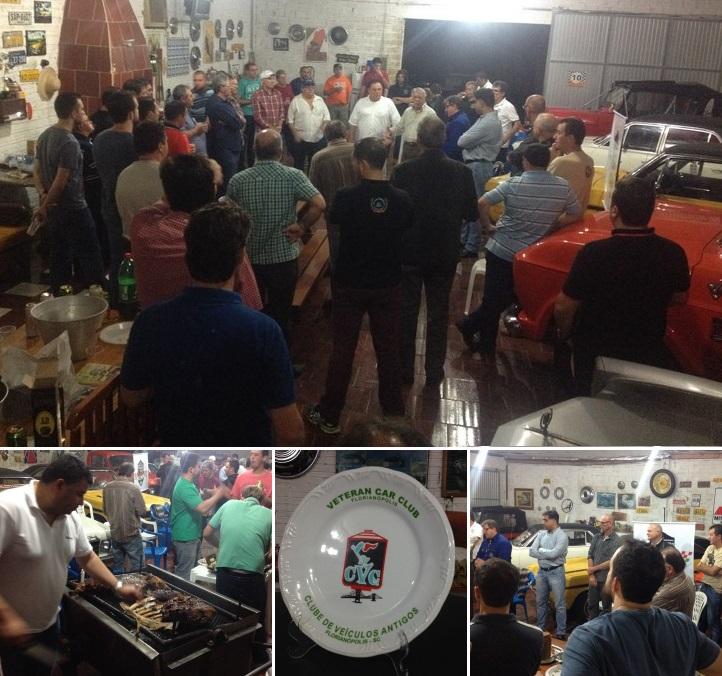 Quinta reunião mensal de 2016 do Veteran Car Sul Catarinense realizada dia 05 de julho em Esplanada - Içara/SC