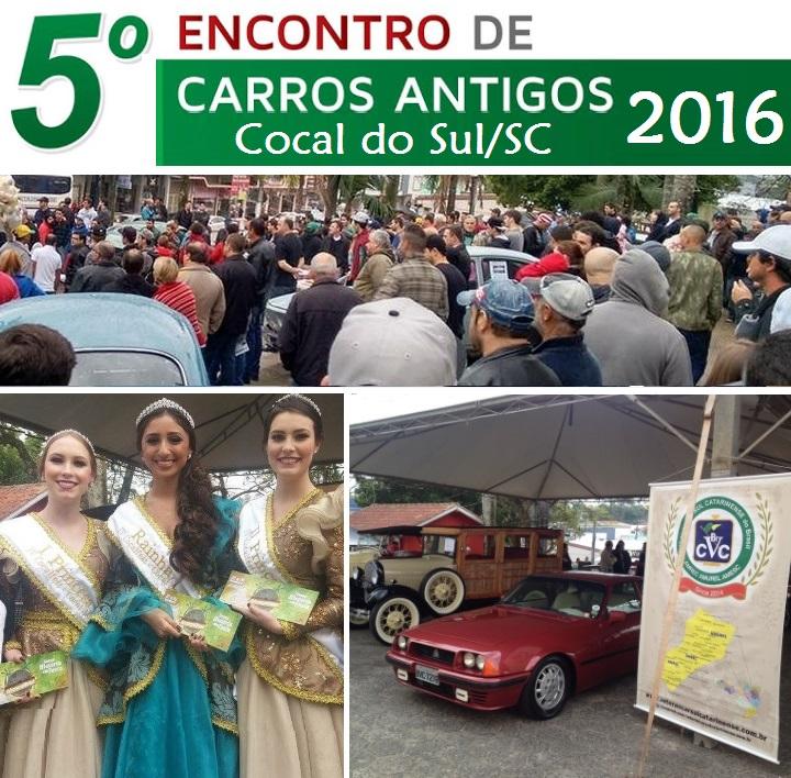 O Veteran Car Sul Catarinense participou do 5° ENCONTRO DE CARROS ANTIGOS DE COCAL DO SUL/SC realizado dia 09 de julho de 2016.