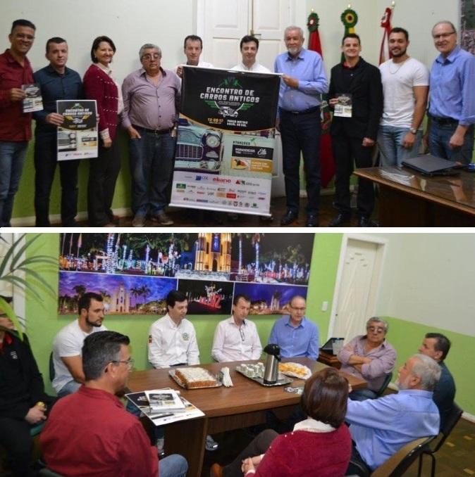 Veteran Car Sul Catarinense participa do lançamento do 6º ENCONTRO DE CARROS ANTIGOS DE COCAL DO SUL/SC 2017 na sede da Prefeitura Municipal.
