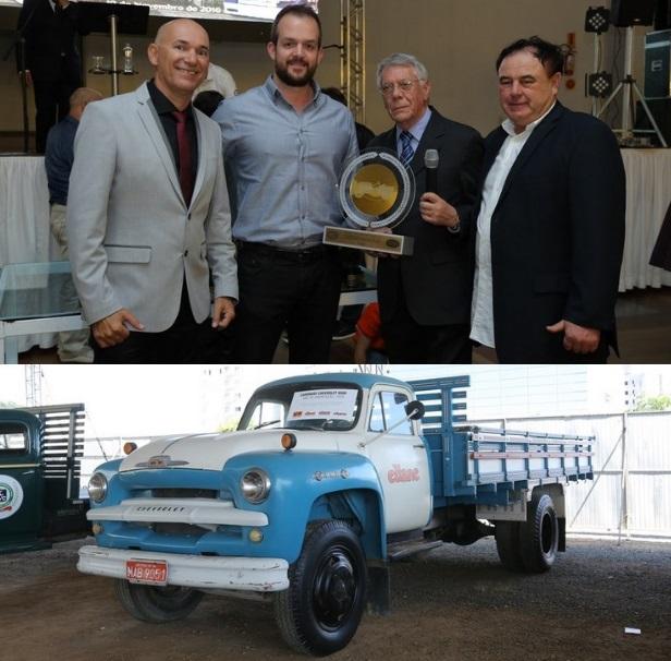 Empresa ELIANE recebe Troféu Master FBVA com o Chevrolet 6500 ano 1960 no 25º SUL BRASILEIRO DE VEICULOS realizado de 18 a 20 de novembro de 2016 em Criciúma/SC