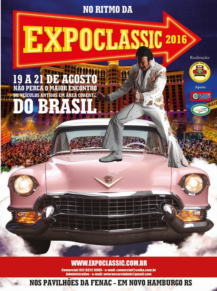 EXPOCLASSIC em Novo Hamburgo/RS de 19 a 21 de agosto de 2016