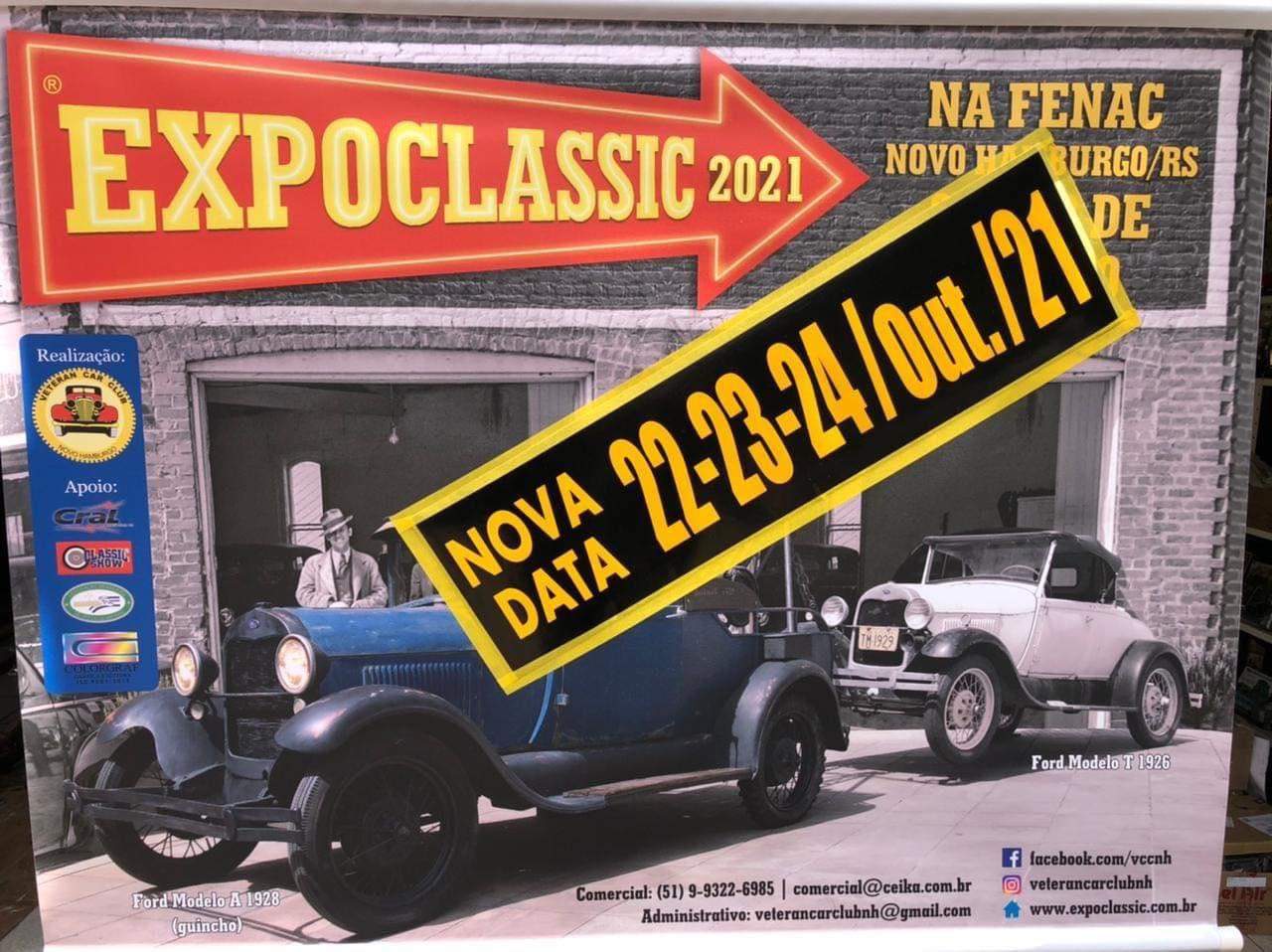 EXPOCLASSIC 2021 de 22 a 24 de outubro em Novo Hamburgo/RS