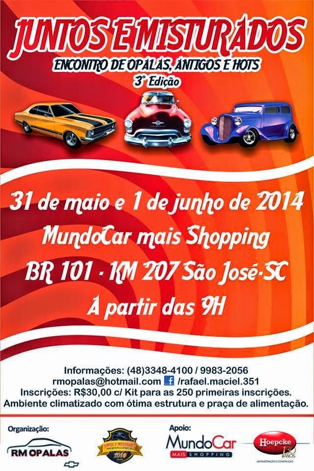 3º Encontro Juntos & Misturados dias 31 de maio e 01 de junho de 2014 em SÃO JOSÉ/SC