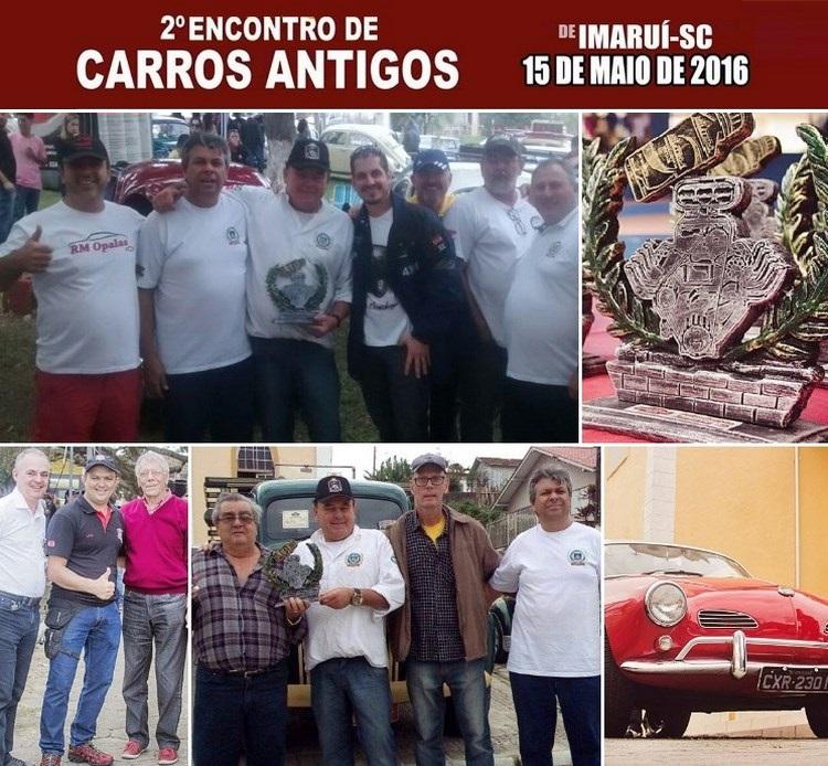 O Veteran Car Sul Catarinense participou do 2° ENCONTRO DE CARROS ANTIGOS DE IMARUÍ/SC realizado dia 15 de maio de 2016.