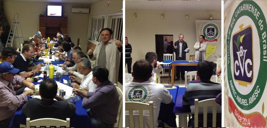 A última reunião mensal  de 2015 do Veteran Car Sul Catarinense aconteceu quarta-feira dia 04 de novembro de 2015 em Urussanga/SC