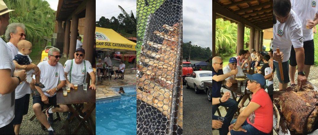 Confraternização de final do ano de 2018 do Veteran Car Sul Catarinense realizada domingo dia 16 de dezembro