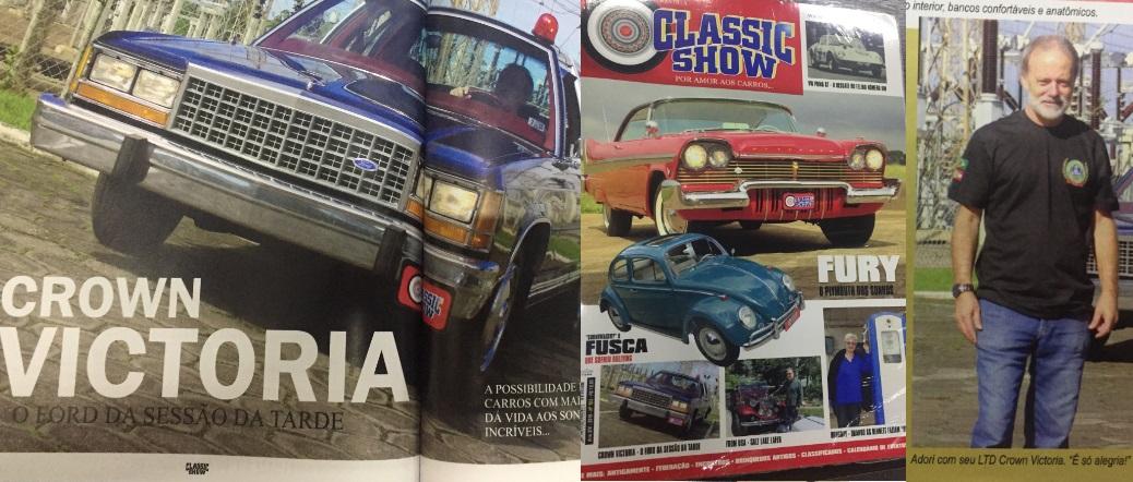 Ford Crown Victoria do nosso sócio Adori estampado na edição número 103 da conceituada Revista Classic Show lançada no Encontro de Águas de Lindóia que aconteceu de 20 a 23 de junho de 2019