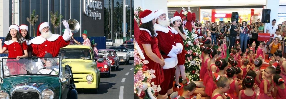 Veteran Car Sul Catarinense participa da chegada do Papai Noel abrindo a temporada natalina no Nações Shopping em Criciúma/SC