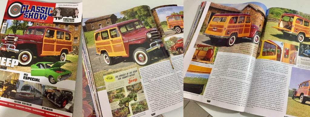 Veículo do Veteran Car Sul Catarinense estampa a capa na matéria principal da edição número 95 na REVISTA CLASSIC SHOW lançada em março/2018
