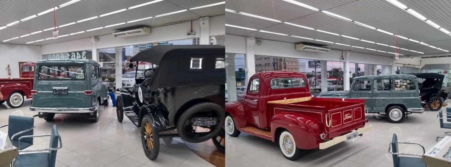 Veteran Car Sul Catarinense realizou exposição na Concessionária Ford Forauto de Criciúma/SC dias 19, 20 e 21 de outubro de 2018.