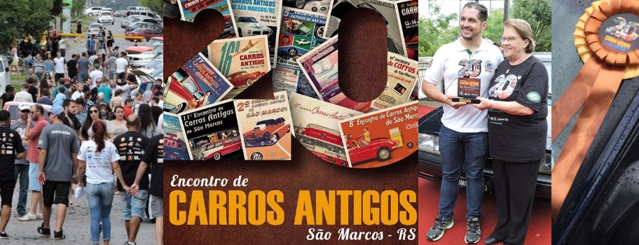 O Veteran Car Sul Catarinense participou do 20° ENCONTRO DE CARROS ANTIGOS DE SÃO MARCOS/RS realizado dias 24 e 25 de março de 2018.