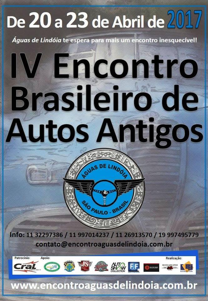 4º EBAA-Encontro Brasileiro de Autos Antigos de 20 a 23 de abril de 2017 em ÁGUAS DE LINDÓIA/SP
