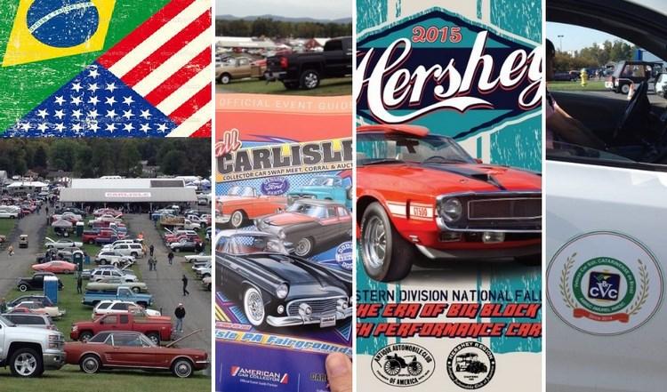 Sócios do Veteran Car Sul Catarinense visitaram as feiras de CARLISLE de 30 de setembro a 04 de outubro e HERSHEY de 07 a 10 de outubro de 2015 nos EUA