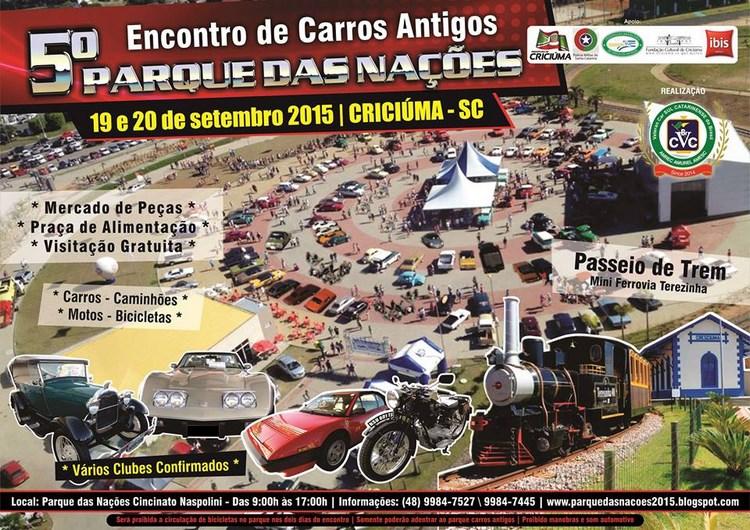5º Encontro Parque das Nações de Carros Antigos CRICIÚMA/SC dias 19 e 20 de setembro de 2015