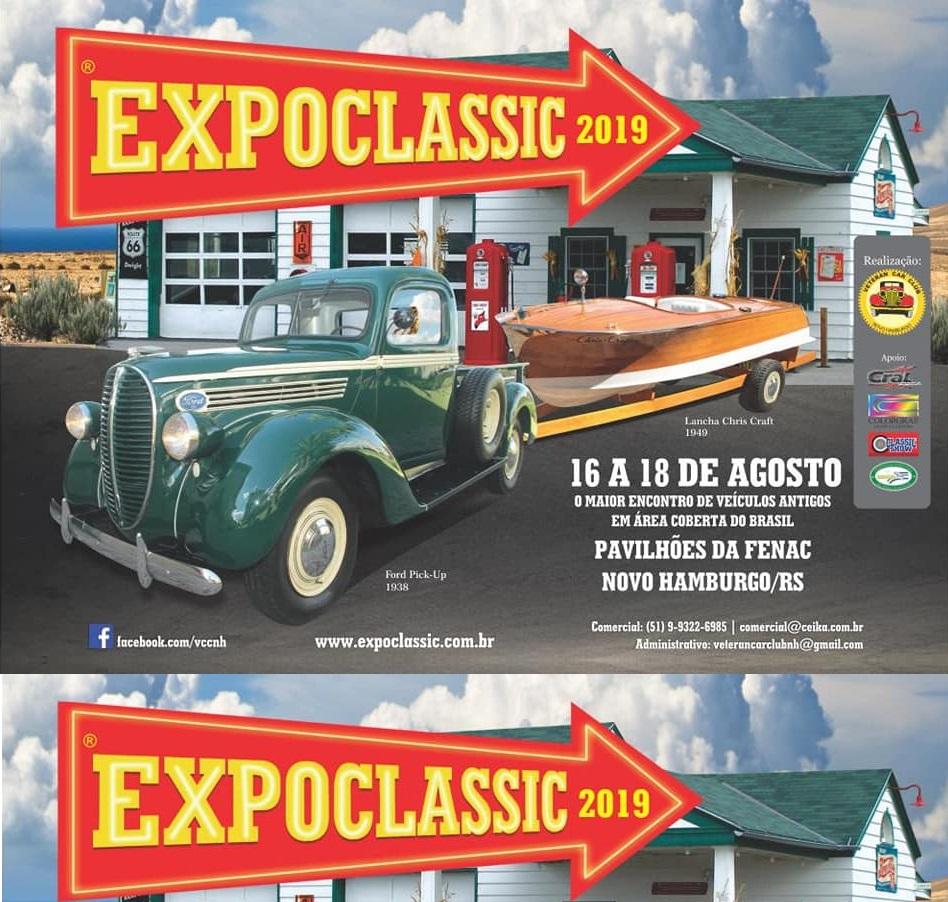EXPOCLASSIC 2019 de 16 a 18 de agosto em Novo Hamburgo/RS
