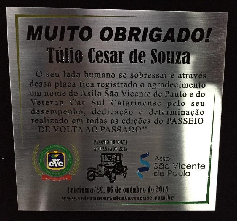 Dia 06 de Outubro de 2018 em Criciúma/SC