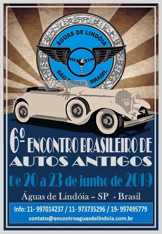 6º Encontro Brasileiro de Autos Antigos de 20 a 23 de junho de 2019 em Águas de Lindóia/SP