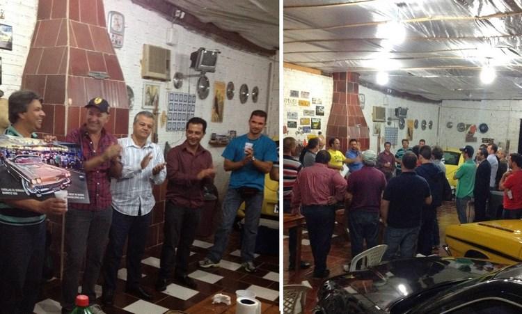 Amarildo e Eduardo Casagrande, sócios do Veteran Car Sul Catarinense realizaram CONFRATERNIZAÇÃO de antigomobilistas dia 13 de maio de 2014 em Esplanada Içara/SC