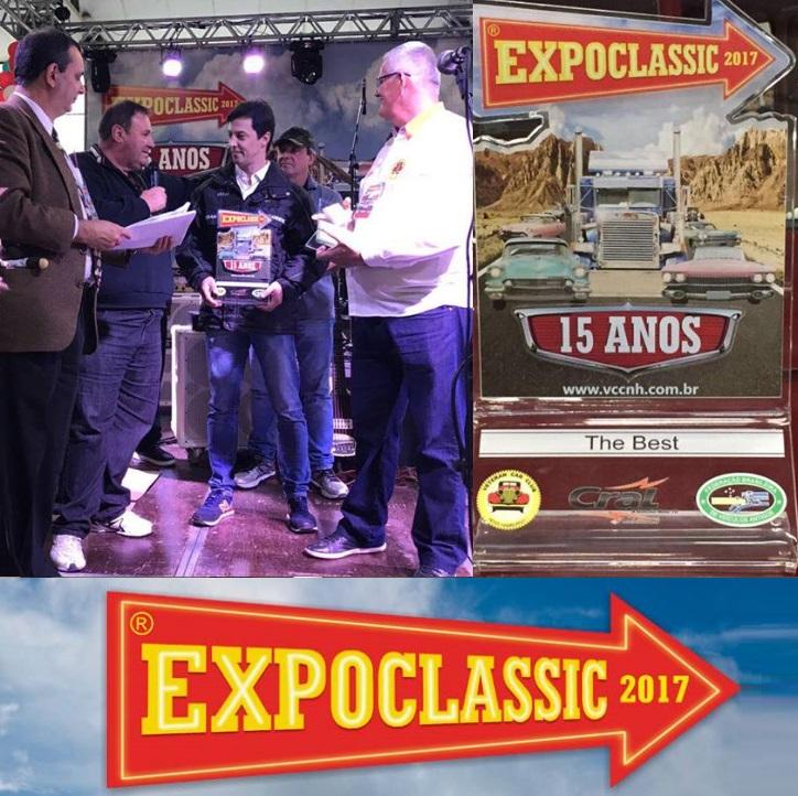 Veteran Car Sul Catarinense fatura premiação máxima ¨The Best¨ na EXPOCLASSIC 2017 realizada de 18 a 20 de agosto de 2017 em Novo Hamburgo/RS
