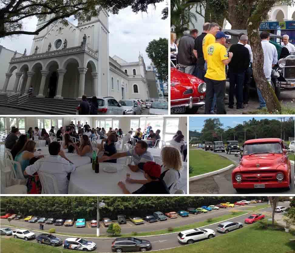 Confraternização de final do ano de 2015 do Veteran Car Sul Catarinense realizada domingo dia 29 de novembro no Mampituba Clube
