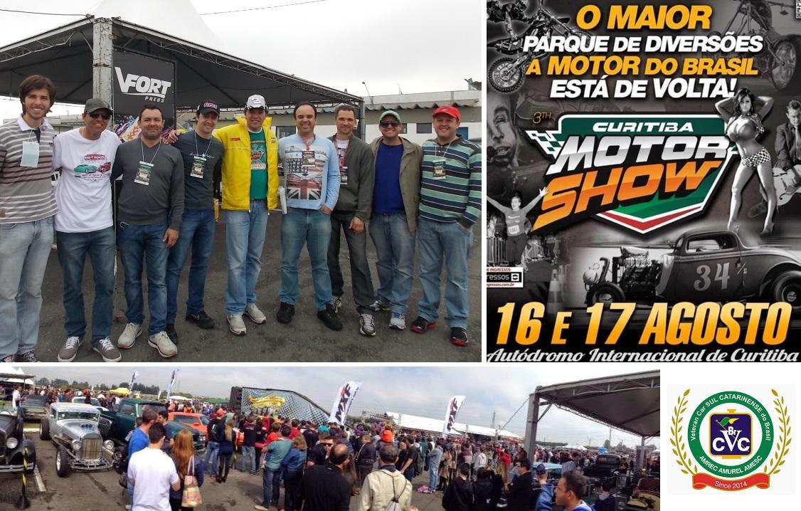 Sócios do Veteran Car Sul Catarinense participaram do CURITIBA MOTOR SHOW realizado dias 16 e 17 de agosto de 2014 em Curitiba/PR