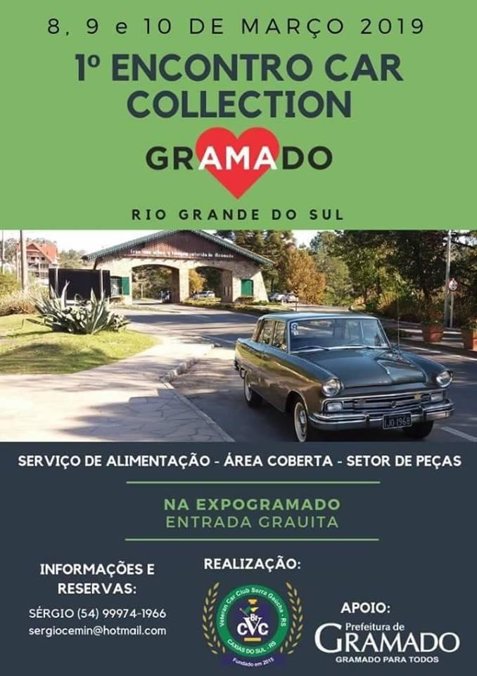 1º EXPO COLLECTION CAR de 08 a 10 de março de 2018 em Gramado/RS