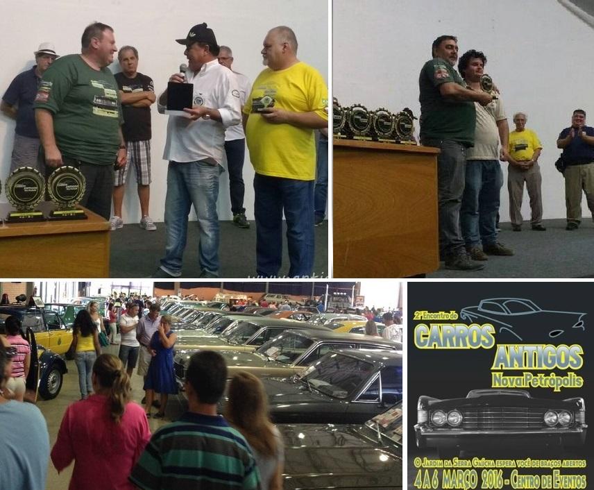 O Veteran Car Sul Catarinense participou do 2° ENCONTRO DE CARROS ANTIGOS DE NOVA PETRÓPOLIS/RS realizado dias 04, 05 e 06 de março de 2016.