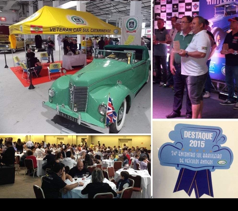Veteran Car Sul Catarinense participou do 24° ENCONTRO SUL BRASILEIRO DE VEICULOS ANTIGOS 2015 EM BENTO GONÇALVES/RS