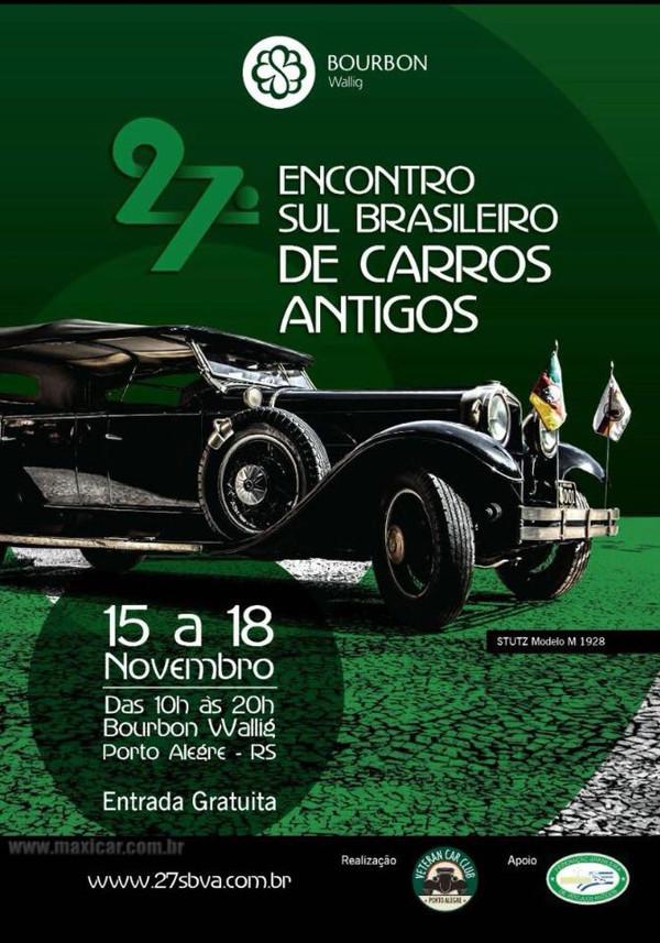 27º Encontro Sul Brasileiro de Carros Antigos de 15 a 18 de novembro de 2018 em Porto Alegre/RS